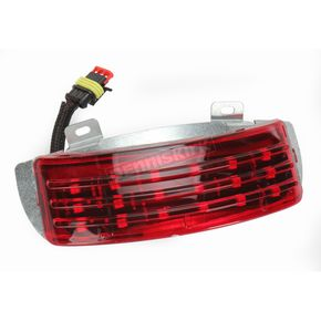 Custom Dynamics Low Profile Tri-Bar Dual Intensity LED Fender Tip w/Red Lens - RIV-TRI-3-RED