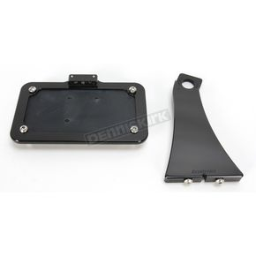 Accutronix Black Side-Mount License Plate - LPF092HV-B