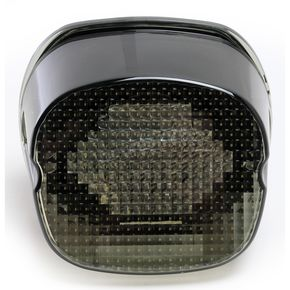 Custom Dynamics Smoke Laydown LED Taillight (Bottom Window) Black Out - GEN2-LDBW-S-B