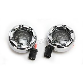 Custom Dynamics Chrome Bullet Ringz LED Turn Signals w/Smoke Lens for Harley CVO models - BTRC-RR-JAE-S
