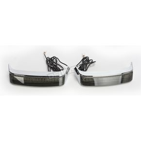 Custom Dynamics HD Bagz Chrome Saddlebag Lights w/Smoke Lens for H-D OE Saddlebags - CS-SB-OBCM-CS