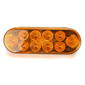 Bluhm Enterprises 6.5 in. Oval Amber Trailer LED Brite Lite - BL-TRLEDOA