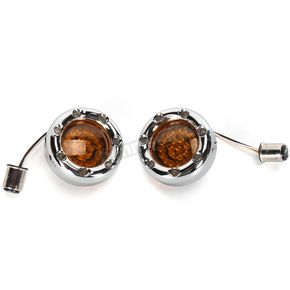 Custom Dynamics Chrome Bullet Ringz w/Amber/White LED Turn Signals - BTRC-AW-1157-A
