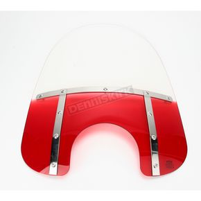 Memphis Shades Memphis Fats 19 in. Gradient Ruby Windshield for Standard 5 3/4 in. - 7 in. Headlights - MEM3312