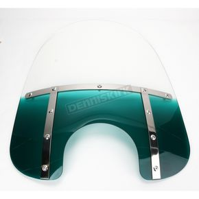 Memphis Shades Memphis Fats 17 in. Gradient Teal Windshield for Standard 5 3/4 in. - 7 in. Headlights - MEM3213