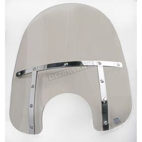 Memphis Shades Memphis Fats 13 in. Solar Bobbed Windshield for Standard 5 3/4 in. - 7 in. Headlights - MEM3119