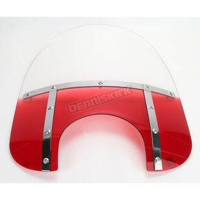 Memphis Shades Memphis Fats 21 in. Gradient Ruby Windshield for 9 in. Headlight - MEM3812