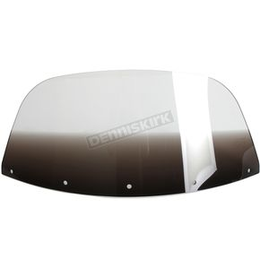 Memphis Shades 9 in. Replacement Gradient Black Plastic for use with OEM Harley-Davidson Windshield Hardware - MEP8011