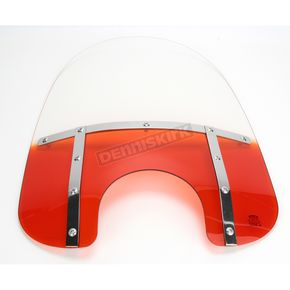 Memphis Shades Memphis Fats 19 in. Gradient Burnt Orange Windshield for Standard 5 3/4 in. - 7 in. Headlights - MEM3317