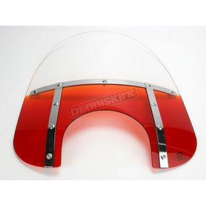 Memphis Shades Memphis Fats 13 in. Gradient Burnt Orange Bobbed Windshield for 9 in. Headlight - MEM3517