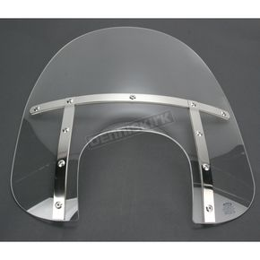 Memphis Shades Memphis Fats 19 in. Clear Windshield with 9 in. Headlight Opening for Big Nacelle Headlight - 2313-0059