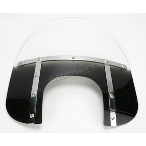 Memphis Shades Memphis Fats 15 in. Gradient Black Windshield with 9 in. Headlight Opening for Big Nacelle Headlight - 2313-0050