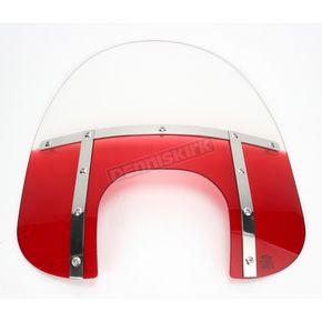 Memphis Shades Memphis Fats 17 in. Gradient Ruby Windshield with 9 in. Headlight Opening for Big Nacelle Headlight - 2313-0056