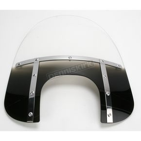 Memphis Shades Memphis Fats 17 in. Gradient Black Windshield with 9 in. Headlight Opening for Big Nacelle Headlight - 2313-0055