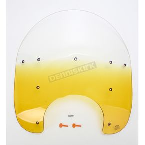 Memphis Shades 21 in. Replacement Gradient Yellow Plastic for use with OEM Harley-Davidson Hardware and 7 in. Headlight - MEP6425
