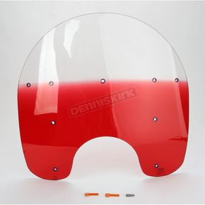 Memphis Shades 17 in. Replacement Gradient Ruby Plastic for use with OEM Harley-Davidson Detachable King Size Windshield Hardware and 7 in. Headlight - MEP6262