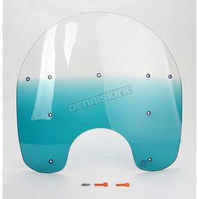 Memphis Shades 19 in. Replacement Gradient Teal Plastic for use with OEM Harley-Davidson Detachable King Size Windshield Hardware and 7 in. Headlight - MEP6363