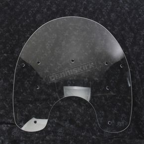 Memphis Shades 17 in. Replacement Clear Plastic for use with OEM Harley-Davidson Detachable King Size Windshield Hardware and 7 in. Headlight - 2310-0055