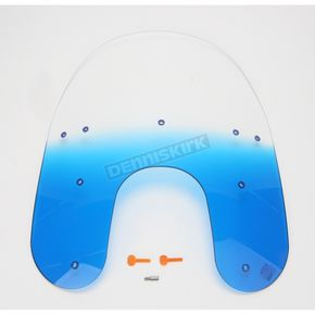 Memphis Shades 19 in. Replacement Gradient Blue Plastic for use with OEM Harley-Davidson Detachable Compact Windshield Hardware and 5 3/4 in. Headlight  - MEP6336