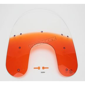 Memphis Shades 19 in. Replacement Gradient Burnt Orange Plastic for use with OEM Harley-Davidson Detachable Compact Windshield Hardware and 5 3/4 in. Headlight  - MEP6337