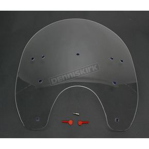 Memphis Shades 19 in. Replacement Clear Plastic for use with OEM Harley-Davidson Detachable Compact Windshield Hardware and 5 3/4 in. Headlight  - MEP6340