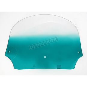 Memphis Shades 9 in. Gradient Teal Batwing Windshield for Batwing Fairing - MEP8523