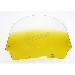 Memphis Shades 9 in. Gradient Yellow Batwing Windshield for Batwing Fairing - MEP8525