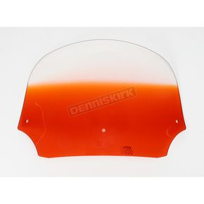 Memphis Shades 9 in. Gradient Burnt Orange Batwing Windshield for Batwing Fairing - MEP8527