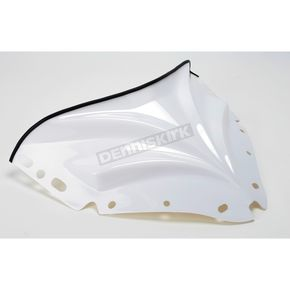 Sno-Stuff 11 1/2 in. Gloss White Peakline Windshield  - 48040155