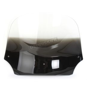 Memphis Shades 12 in. Gradient Black Batwing Windshield for Batwing Fairing  - MEP8531