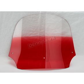 Memphis Shades 12 in. Gradient Ruby Batwing Windshield for Batwing Fairing  - MEP8532