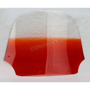 Memphis Shades 12 in. Gradient Burnt Orange Batwing Windshield for Batwing Fairing - MEP8537