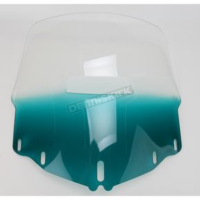 Memphis Shades Gradient Teal Windshield w/Vent Hole - MEP4873