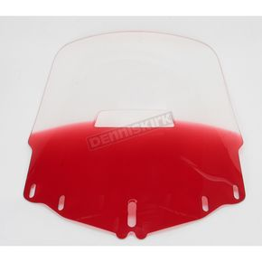 Memphis Shades Tall Gradient Ruby Windshield w/Vent Hole - 2312-0179