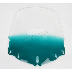 Memphis Shades Tall Gradient Teal Windshield w/Vent Hole - 2312-0180