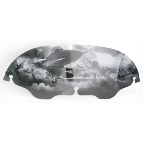 Drag Specialties 6 in. Air Force Ground Windscreen - 2310-0363