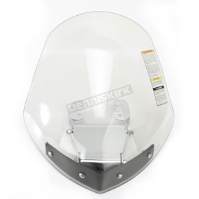 National Cycle Light Tint 14 1/2 in. Gladiator Windshield w/Chrome Mounts - N2710