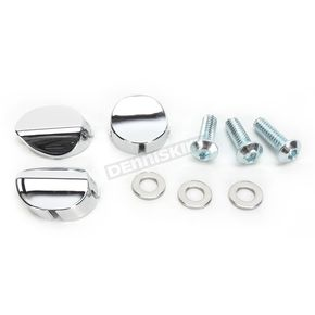 Kuryakyn Replacement Chrome Deluxe Windshield Caps - 1342