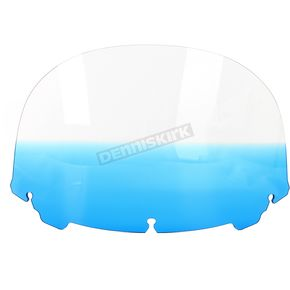 Memphis Shades Gradient Blue 12 in. Replacement Plastic for use with OEM Harley Davidson Windshield Hardware - MEP8186