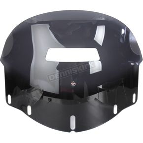 Klock Werks Adjustable Dark Smoke 14-18 in. Flare Vented Windshield - 2312-0250