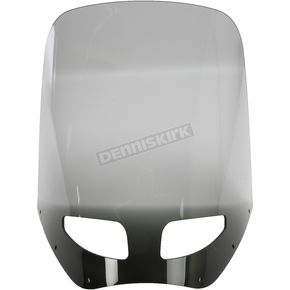 Memphis Shades 17 in. Black Smoke Vented Windshield for Road Warrior Fairing - MEP87712