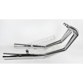 Mac 6/2 Chrome Megaphone Exhaust System - 001-1830