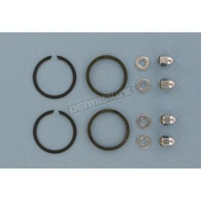 Genuine James Stainless Steel Wire Exhaust Port Gaskets and Chrome Acorn Nuts - 65324-83-KW1