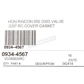 Cometic Valve Cover Gasket - VC080020RC