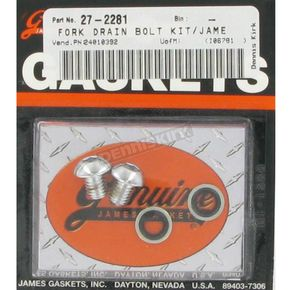 Genuine James Fork Drain Screw Kit - 45858-77-K