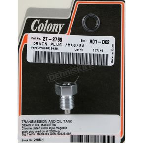 Colony 1/2 in.-20 Chrome-Plated Magnetic Oil Tank Drain Plug - 2296-1