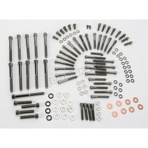 Drag Specialties XL Black Chrome Knurled Motor Bolt Sets - 24010566