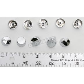 Drag Specialties Chrome 7/16 in. Hex/Torx Bolt/Nut Covers - 2402-0131