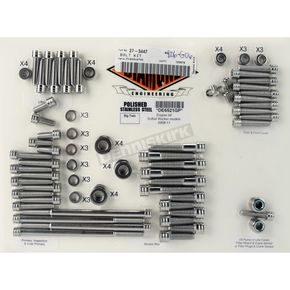 Diamond Engineering Polished Stainless Steel The Groove Engine Kit - DE6521GP