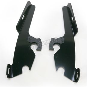 Memphis Shades Night Shades Black No-Tool Trigger-Lock Hardware Kit to Change from Sportshield to Fats/Slim - Plates Only - MEB8873